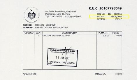 RECIBO 18-06-2007