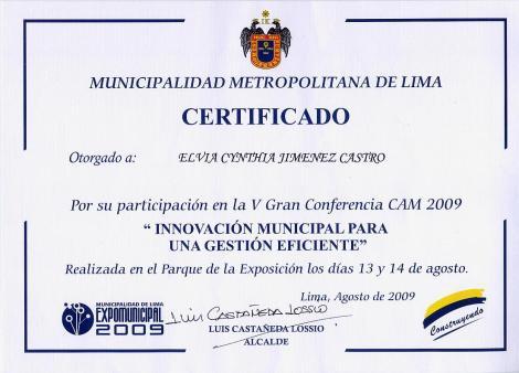 2009 V CAM CONFERENCIA ANUAL MUNICIPALIDADES