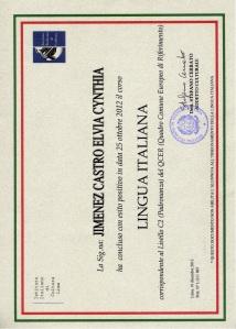 2013 Constancia fin de curso italiano IIC